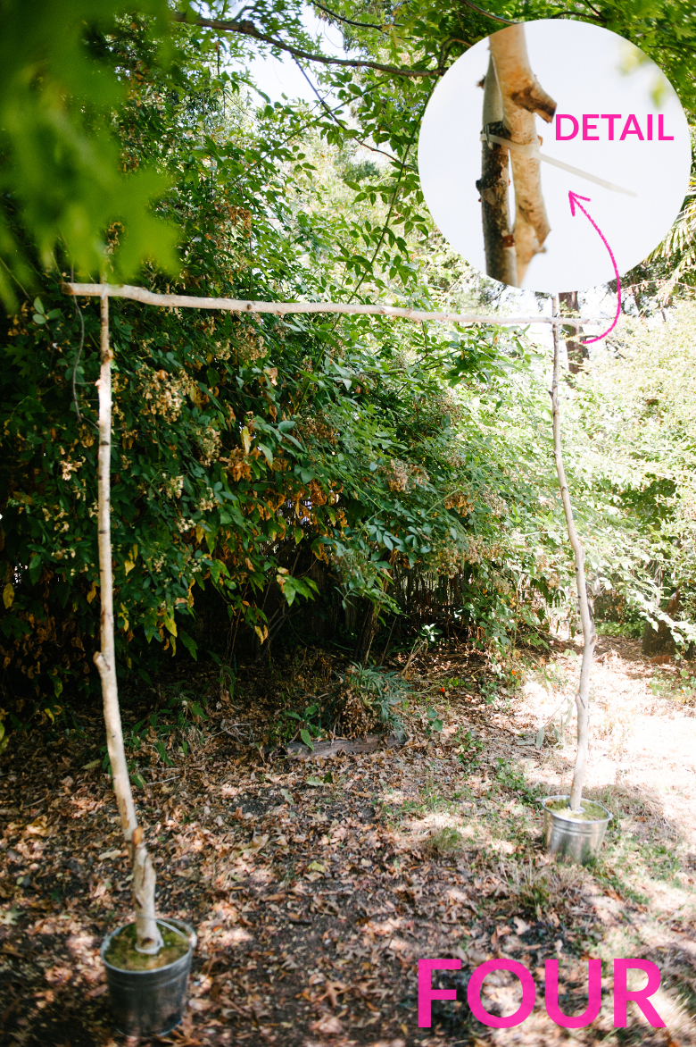 make this inspired wedding arch a practical wedding a