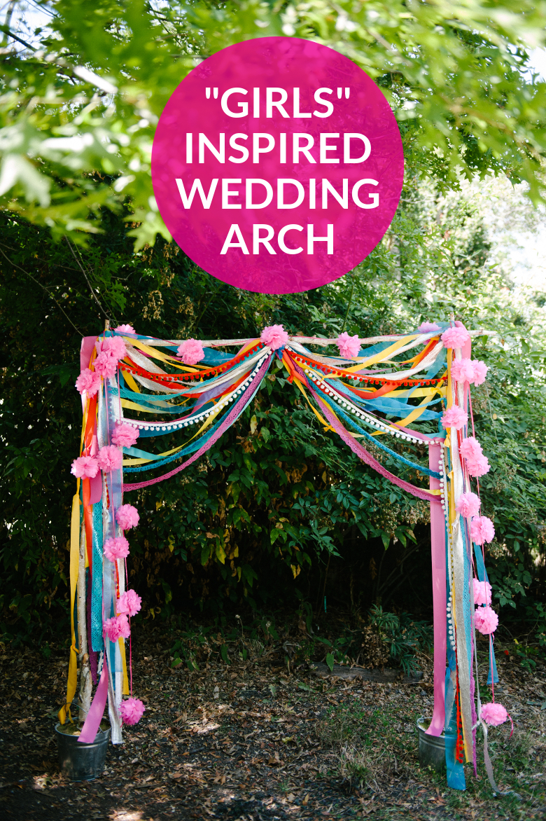 GIRLS INSPIRED WEDDING ARCH | A PRACTICAL WEDDING & Make This