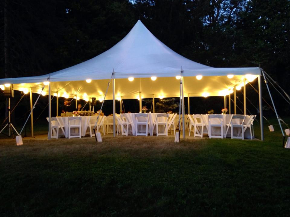 How do you rent a wedding tent prices sizes and types of tents open sided wedding tent at night junglespirit Choice Image