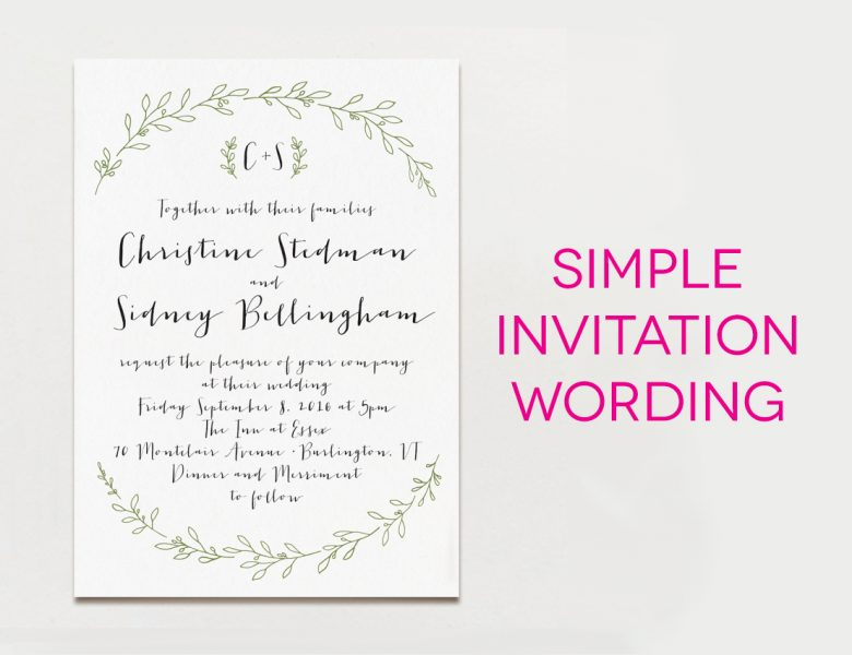 15 Examples of Wedding Invitation Wording You Can Steal A – Sample Wedding Invitation Format