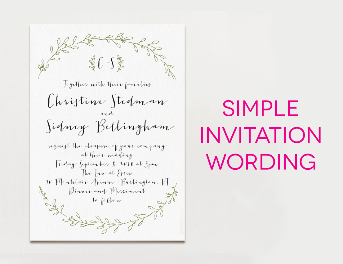 15 creative traditional wedding invitation wording samples apw invitation that says simple wedding invitation wording stopboris Images