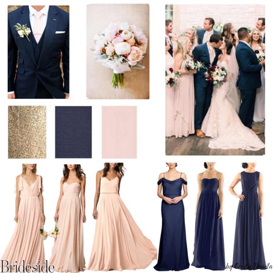 Brideside Mismatched Bridesmaid Dresses Style Board