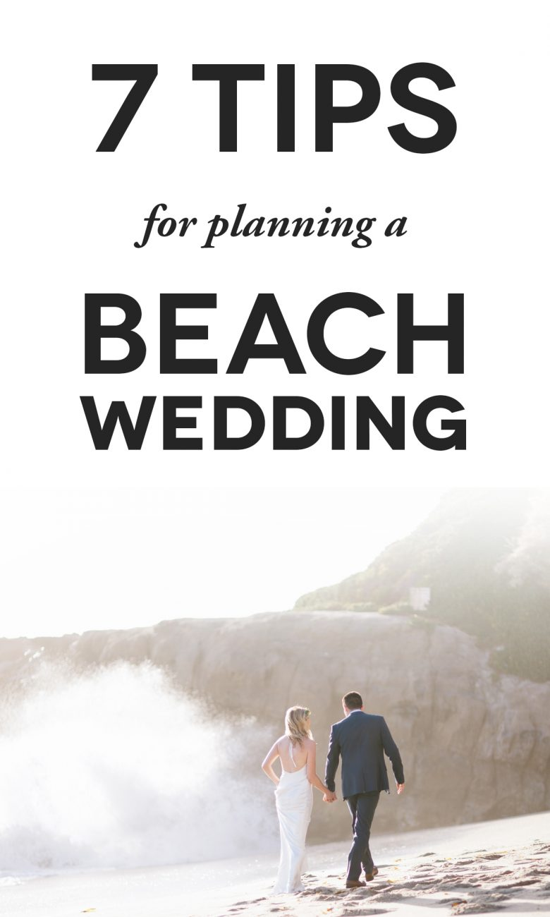 beach wedding tips with couple on beach in southern california